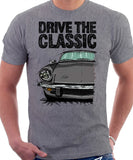 Drive The Classic Triumph Spitfire Mk4 Softtop. T-shirt in Heather Grey Colour