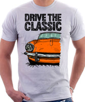 Drive The Classic Triumph Spitfire Mk3 Softtop. T-shirt in White Colour