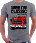 Drive The Classic Volvo Amazon. T-shirt in Heather Grey Colour