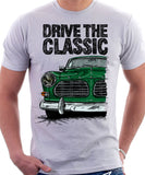 Drive The Classic Volvo Amazon. T-shirt in White Colour