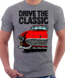 Drive The Classic Volvo P1800 Early Model. T-shirt in Heather Grey Colour