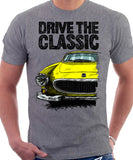 Drive The Classic Volvo P1800 Late Model. T-shirt in Heather Grey Colour