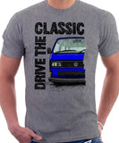 Drive The Classic VW T25 (T3) Square lights . T-shirt in Heather Grey  Colour