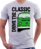 Drive The Classic VW T2 Baywindow Early Model . T-shirt in White Colour