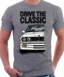Drive The Classic BMW E30 M3. T-shirt in Heather Grey Colour