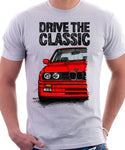 Drive The Classic BMW E30 M3. T-shirt in White Colour