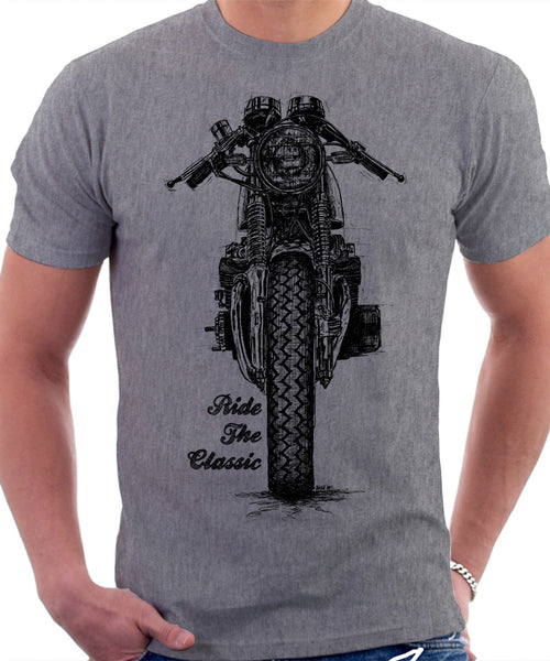 Ride The Classic. Honda CB 200 Cafe Racer. T-shirt.