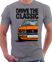 Drive The Classic VW Scirocco Mk1. T-shirt in Heather Grey Colour