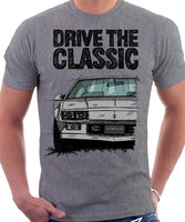 Drive The Classic Chevrolet Camaro 3 Gen Sport Coupe. T-shirt in Heather Grey Colour