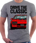Drive The Classic Chevrolet Camaro 3 Gen Z28 Early Model. T-shirt in Heather Grey Colour