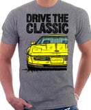 Drive The Classic Chevrolet Corvette C4 Early Model. T-shirt in Heather Grey Colour