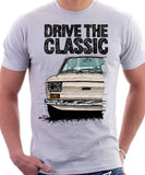 Drive The Classic Fiat 126 Early Model. T-shirt in White Colour