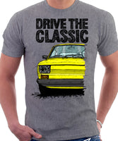Drive The Classic Fiat 126 Late Model. T-shirt in Heather Grey Colour