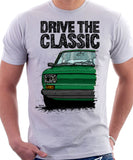 Drive The Classic Fiat 126 Late Model. T-shirt in White Colour