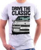 Drive The Classic Opel Calibra Early Model. T-shirt in White Colour