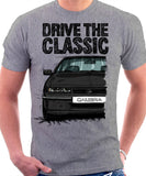 Drive The Classic Opel Calibra Late Model. T-shirt in Heather Grey Colour