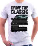 Drive The Classic Opel Calibra Late Model. T-shirt in White Colour