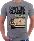 Drive The Classic Porsche 356 B. T-shirt in Heather Grey Colour