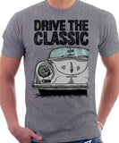 Drive The Classic Porsche 356 A Speedster. T-shirt in Heather Grey Colour