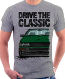 Drive The Classic Toyota AE86 Levin. T-shirt in Heather Grey Colour