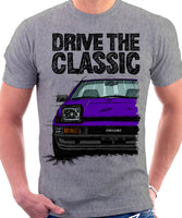 Drive The Classic Toyota AE86 Trueno Late Model. T-shirt in Heather Grey Colour