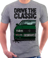 Drive The Classic VW Corrado. T-shirt in Heather Grey Colour