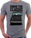 Drive The Classic Fiat 500 L Straight Bumper. T-shirt in Heather Grey Colour