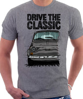 Drive The Classic Fiat 500 R. T-shirt in Heather Grey Colour