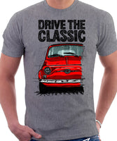 Drive The Classic Fiat 500 Nuova And D. T-shirt in Heather Grey Colour