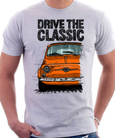 Drive The Classic Fiat 500 Nuova And D. T-shirt in White Colour