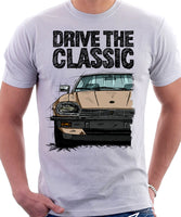 Drive The Classic Jaguar XJ-S Early Model. T-shirt in White Colour