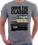 Drive The Classic Jaguar XJ-S Early Model. T-shirt in Heather Grey Colour
