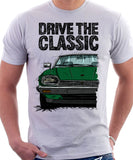 Drive The Classic Jaguar XJ-S Late Model. T-shirt in White Colour