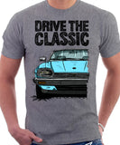 Drive The Classic Jaguar XJ-S Late Model. T-shirt in Heather Grey Colour