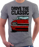 Drive The Classic Jaguar XJS. T-shirt in Heather Grey Colour