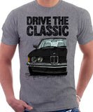 Drive The Classic BMW E21 Double Headlights. T-shirt in Heather Grey Colour