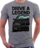 Drive A Legend BMW E36 M3. T-shirt in Heather Grey Colour