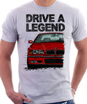 Drive A Legend BMW E36 M3. T-shirt in White Colour