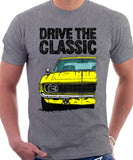 Drive The Classic Chevrolet Camaro 1969. T-shirt in Heather Grey Color