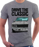 Drive The Classic Chevrolet Camaro SS 1969. T-shirt in Heather Grey Color
