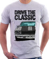Drive The Classic Chevrolet Camaro 1969. T-shirt in White Color