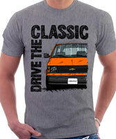 Drive The Classic Chevrolet Astro 1 Black Bumper. T-shirt in Heather Grey Colour
