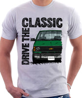 Drive The Classic Chevrolet Astro 1 Chrome Bumper. T-shirt in White Colour