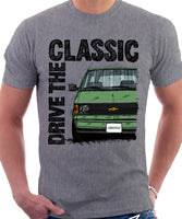 Drive The Classic Chevrolet Astro 1 Colour Bumper. T-shirt in Heather Grey Colour