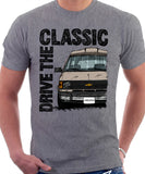 Drive The Classic Chevrolet Astro 1 Starcraft. T-shirt in Heather Grey Colour