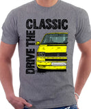 Drive The Classic VW Transporter T4 Late Model Colour Bumper . T-shirt in Heather Grey Colour
