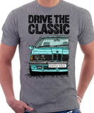 Drive The Classic BMW E24 Early Model. T-shirt in Heather Grey Colour