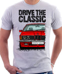 Drive The Classic BMW E24 Early Model. T-shirt in White Colour