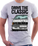 Drive The Classic BMW E24 Late Model. T-shirt in White Colour