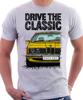 Drive The Classic BMW E24 Standard Early Model. T-shirt in White Colour